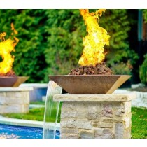 Light up your swimming pool with fire features ohana pool maui pool service maui pool for Fire features for swimming pools